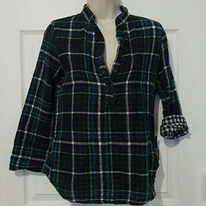 Rue 21 plaid shirt navy small